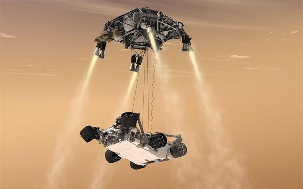 Mars Curiosity Skycrane